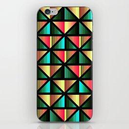 Emerald triangles iPhone Skin