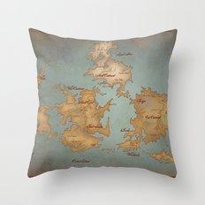 Gaia World Map- Final Fantasy VII Throw Pillow