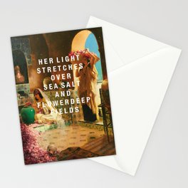 her light stretches Stationery Cards