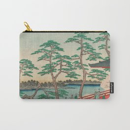 Spring Blossoms and Pond Ukiyo-e Japanese Art Carry-All Pouch
