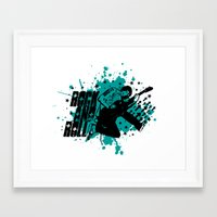 rock and roll Framed Art Prints featuring Rock & Roll by Chamber Decals