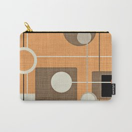 orbs and squares orange Carry-All Pouch