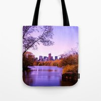 central park Tote Bags featuring Central Park by Anna Andretta
