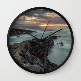 Golden Hour sunset with Long Exposure Wall Clock
