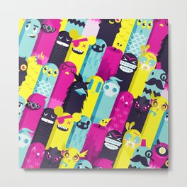 Monster Mash // Pattern Metal Print