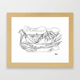 Kootenay Alpine Lakes :: Single Line Framed Art Print
