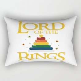 Baby Lord Rings Mum Dad Kids Fantasy Parents Gift Rectangular Pillow