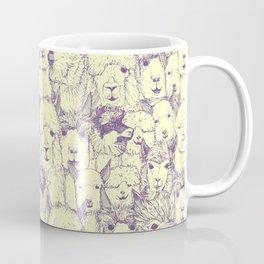 just alpacas purple cream Coffee Mug