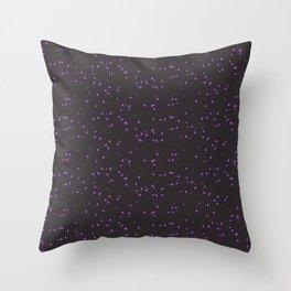 Violet Dark Brown Shambolic Bubbles Throw Pillow