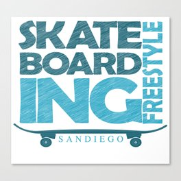 Skateboarding Freestyle San Diego Canvas Print