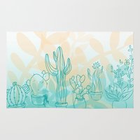 cacti Area & Throw Rugs featuring Cacti by Stephanie Keir