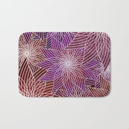 FLORAL IN RED AND VIOLET Bath Mat