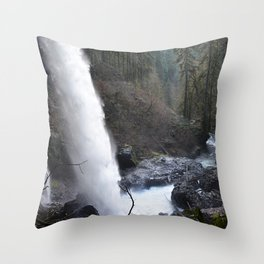 North Falls - Silver Falls State Park Throw Pillow