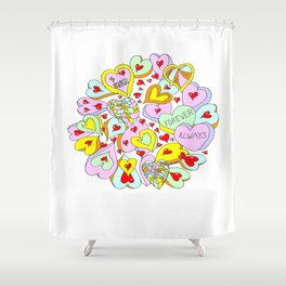 Hearts Galore Shower Curtain