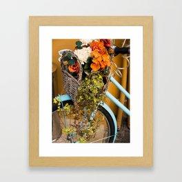 Basket Full of Flowers Framed Art Print