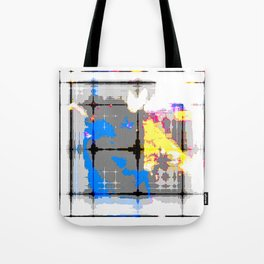 glitch abstract Tote Bag