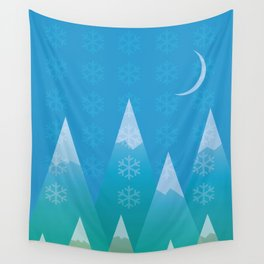 Winter in the Mountains Wall Tapestry