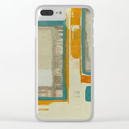 Mid Century Modern Blurred Abstract Clear iPhone Case