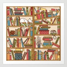 Bookshelf No. 1 Art Print