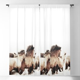 WILD AND FREE 2 - HORSES OF ICELAND Blackout Curtain