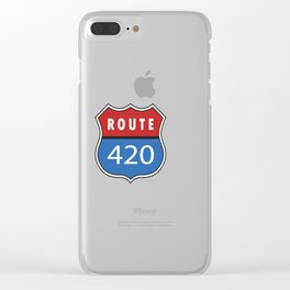 Route 420 Interstate Sign Clear iPhone Case