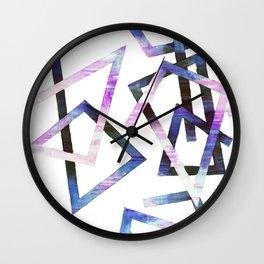 Modern Geometric Lines Shape Corners Wall Clock