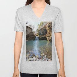 Alone in Secret Hollow with the Caves, Cascades, and Critters, No. 2 of 21 Unisex V-Neck