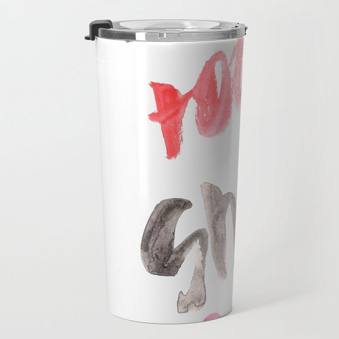 141116 Typography 7 Travel Mug
