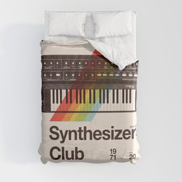 Synthesizers Club Duvet Cover