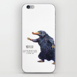 Niffler art Fantastic Beasts iPhone Skin