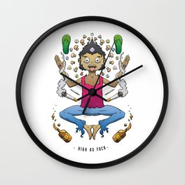 High As Fuck Wall Clock