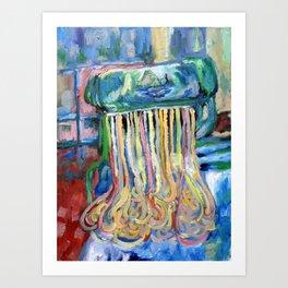 Ramen Is Religion, Oil On Canvas Art Print