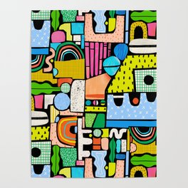 Color Block Collage Poster