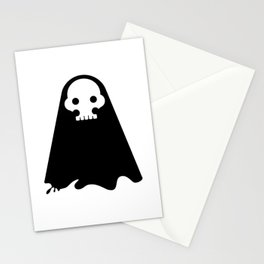 ghost - black Stationery Cards