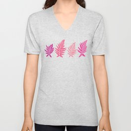 Inked Ferns – Blush Palette Unisex V-Neck