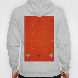 7 - Vintage Orange Anthropologie Moroccan Artwork. Hoody