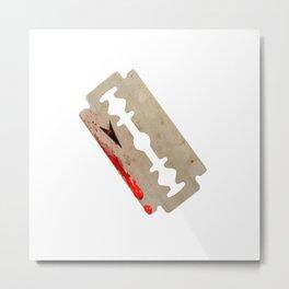 Razor Blade Metal Print