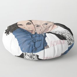 Sean Maguire and Lana Parrilla Enchanted selfie Floor Pillow