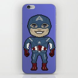 Pixelated Heroes Capt. America Super Hero iPhone Skin