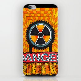 'Radiation warning sign' colored with markers iPhone Skin