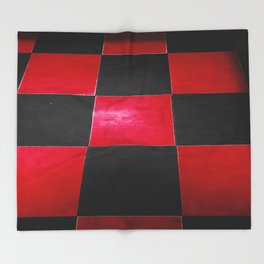 Red and Black Checkers Throw Blanket
