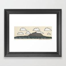 Rangitoto Island - New Zealand Framed Art Print