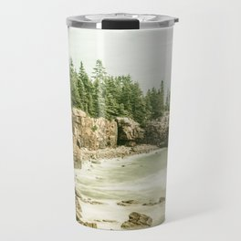 Acadia National Park Maine Rocky Beach Travel Mug