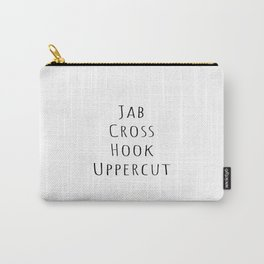 Boxing Jab Cross Hook Uppercut, Boxing Lover, Workout, Boxing Fan Carry-All Pouch