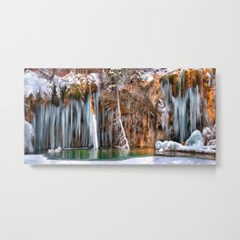 - Hanging Lake print  bA spring that knows no summer  Metal Print