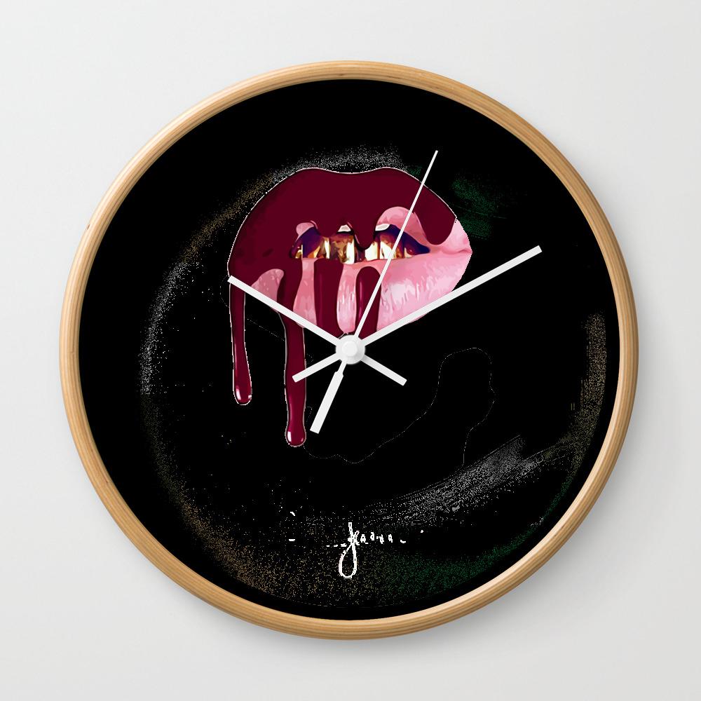 Kylie Jenner Lip Kit Wall Clock by Vortexs CLK8421789