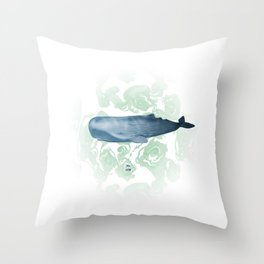 Champion breath holder of the ocean Throw Pillow