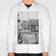 Tenby Harbour. Black+White. Reflection. Hoody