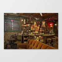 central perk Canvas Prints featuring The Central Perk Bar by voxavila