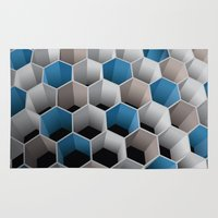 honeycomb Area & Throw Rugs featuring Honeycomb by amanvel